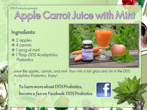 Apple Carrot Juice with Mint