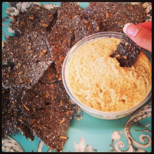 Raw chia crackers