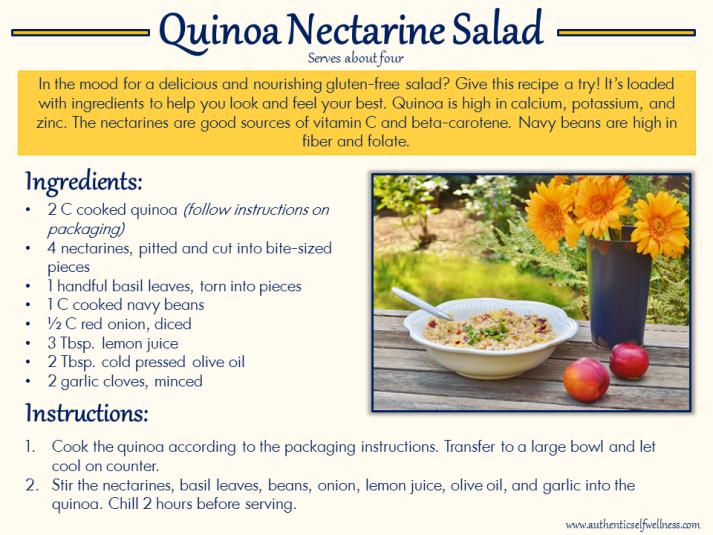 Quinoa Nectarine Salad