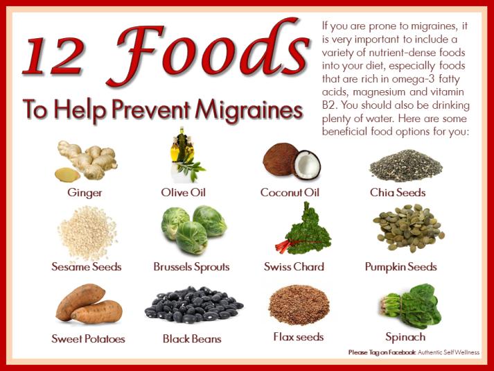12 Fabulous Foods for Migraines