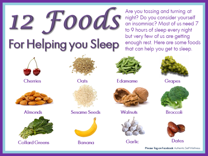 Foods to help you Sleep