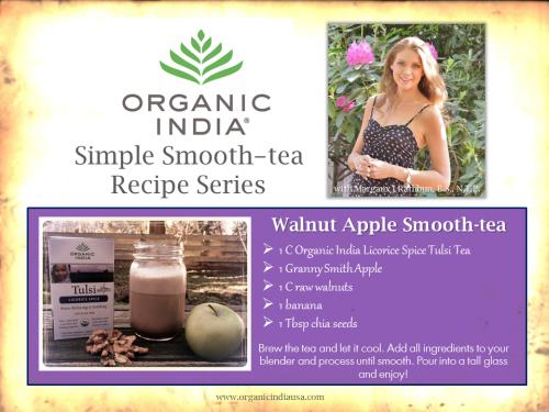 Recipe: Organic India Walnut Apple Smooth-tea