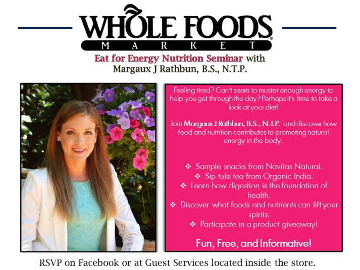 Whole Foods Market Tanasbouren Wksp Flyer May 2014