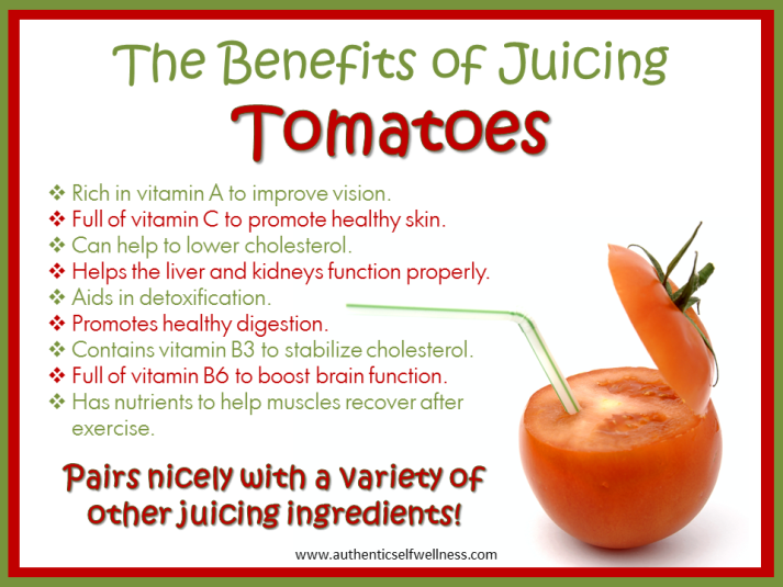 The benefits of juicing tomatoes