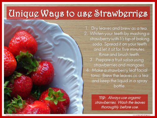 Using strawberry leaves