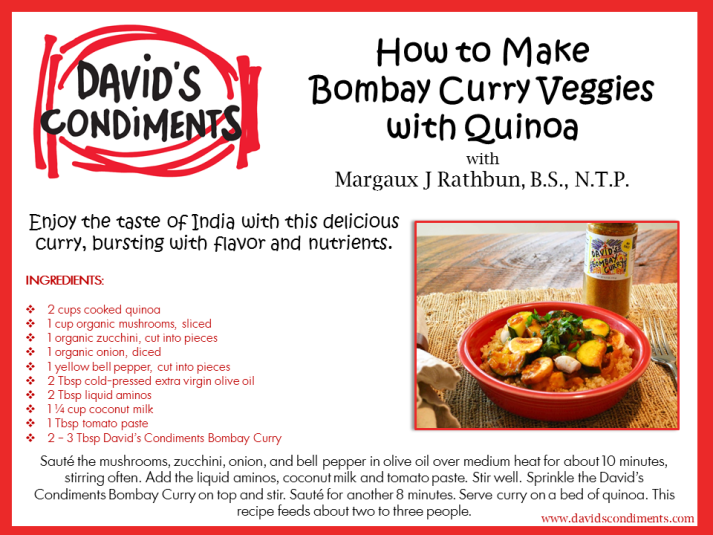 Bombay Veggie Curry Recipe Card