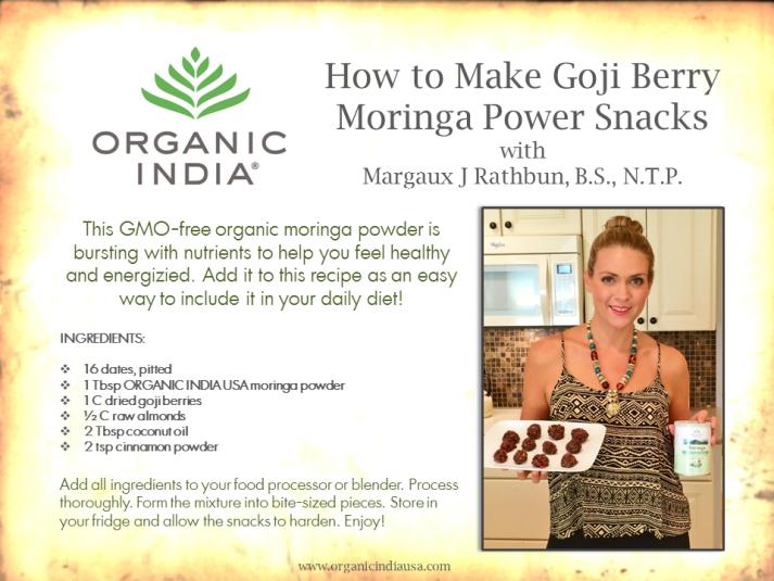 Organic India USA Snack Recipe