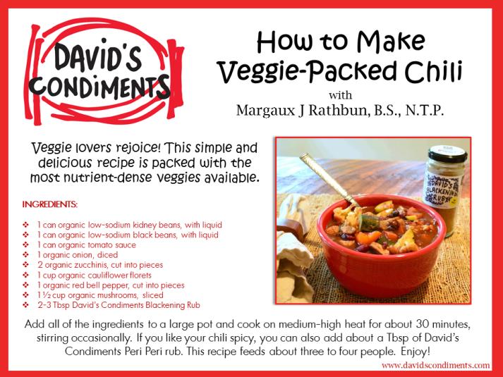 Veggie-Packed Chili Recipe Card