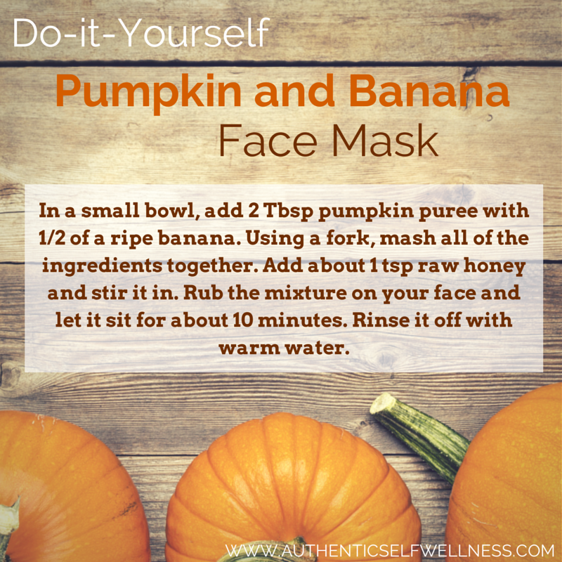 Pumpkin and Banana Face Mask