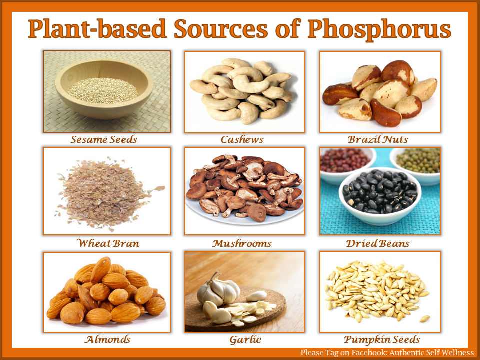 Plant based sources of phosphorus