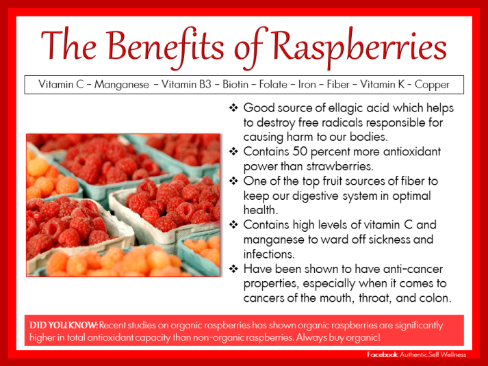 The Health Benefits of Raspberries