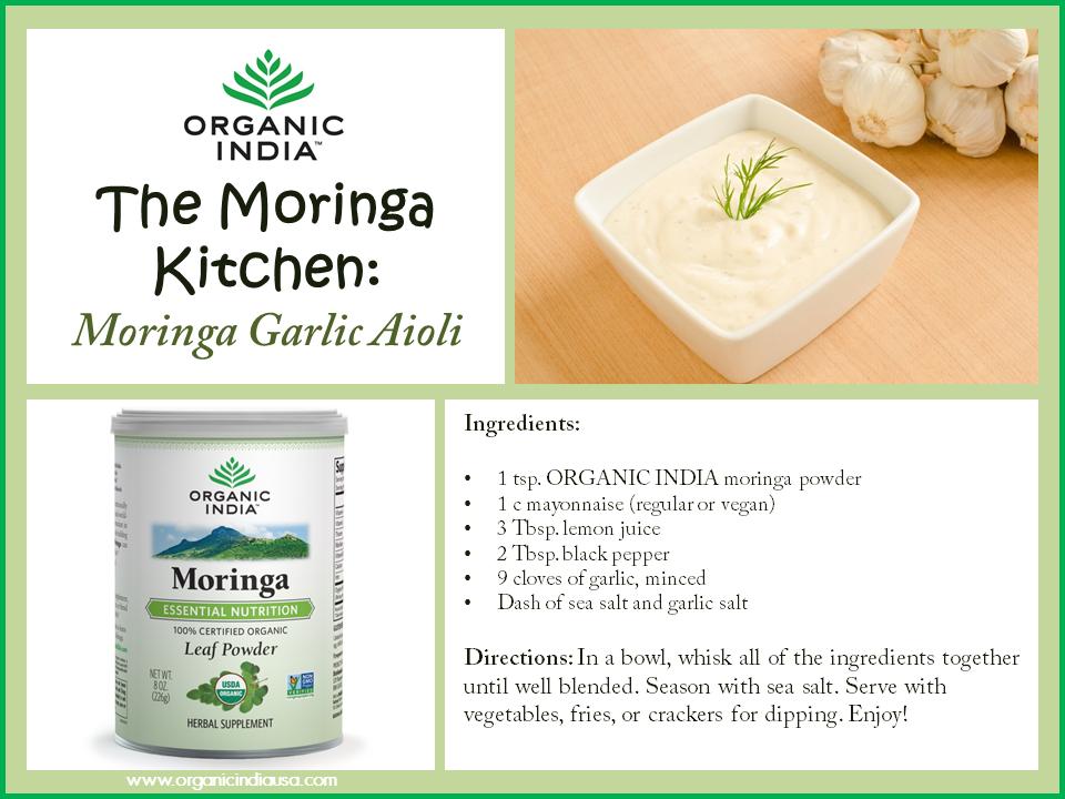 Moringa Garlic Aoli