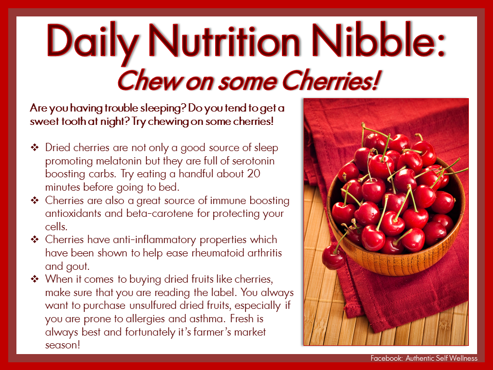 Chew some Cherries