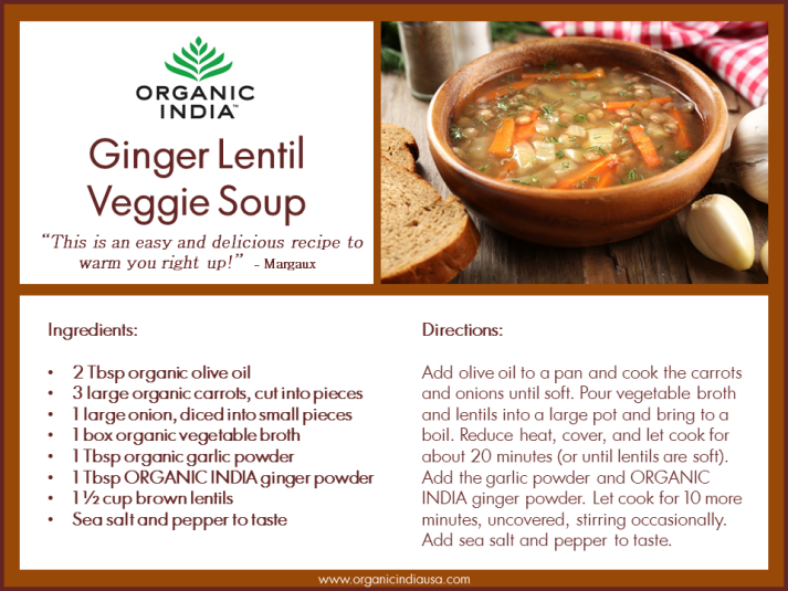 Organic India Ginger Lentil Veggie Soup