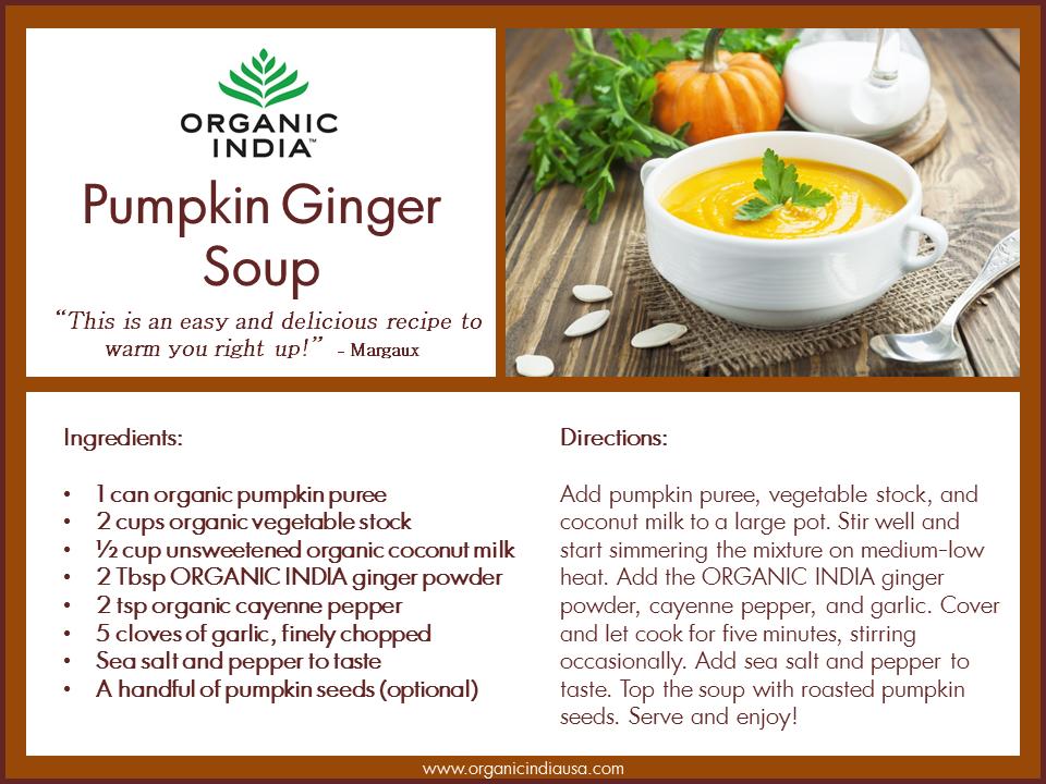 Ginger Pumpkin Soup Recipe
