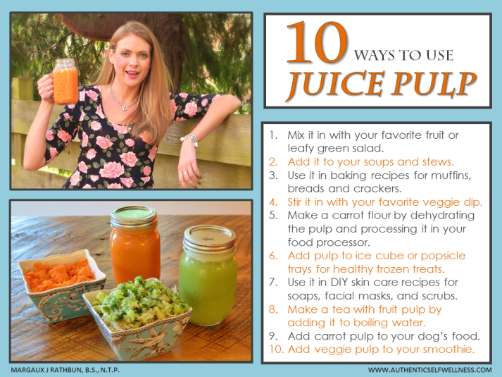10 Ways to use Juice Pulp