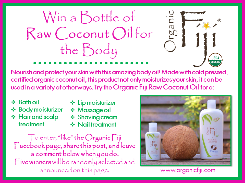 Organic Fiji Coconut Body Oil