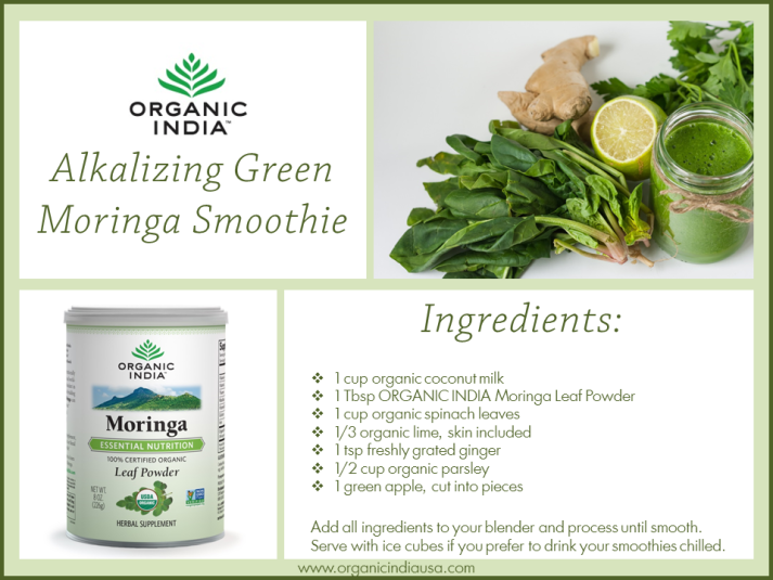 Alkalizing Green Moringa Smoothie Recipe Card 5