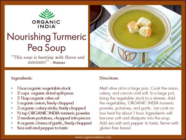 Nourishing Turmeric Pea Soup
