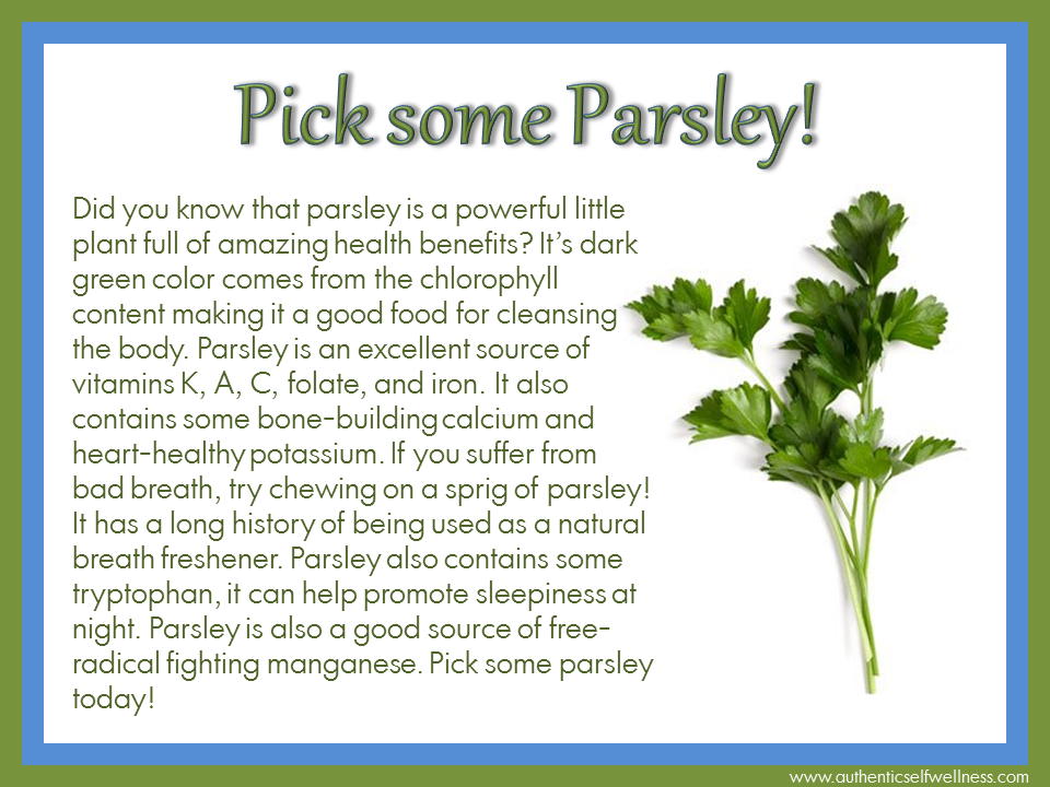 Pick some Parsley