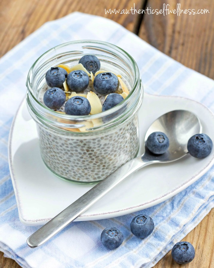 Chia Blueberry Pudding