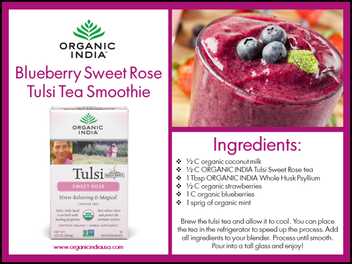 Blueberry Sweet Rose Smoothie