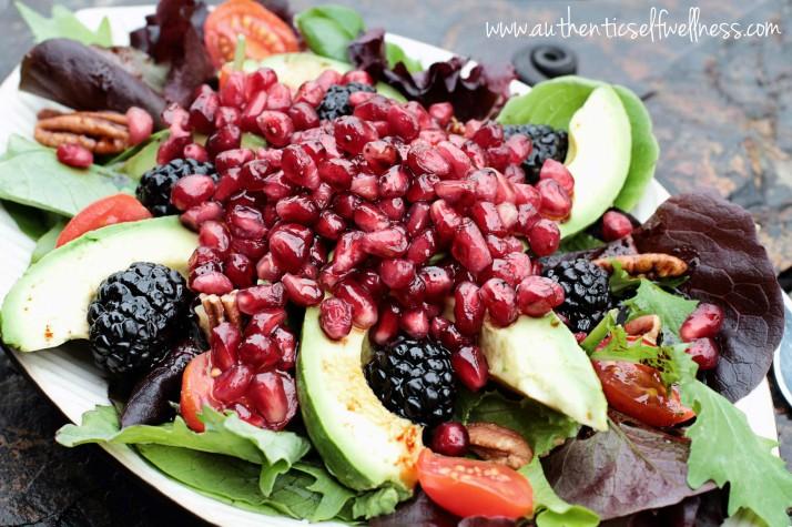 Spinach Pomegranate Salad