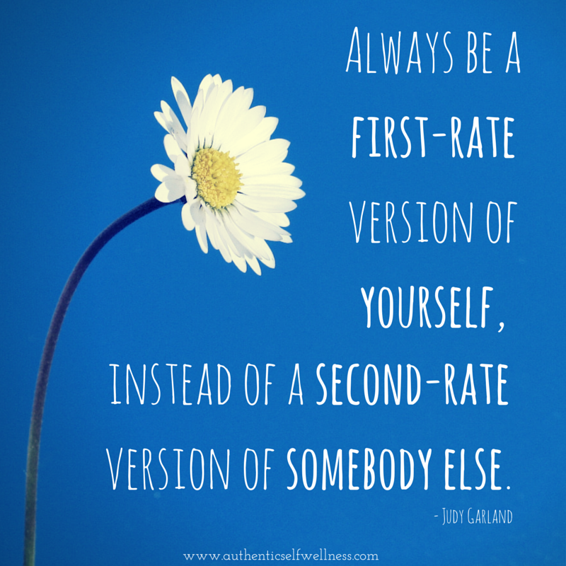 Always be a first-rate version of